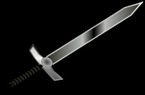 A steel sword